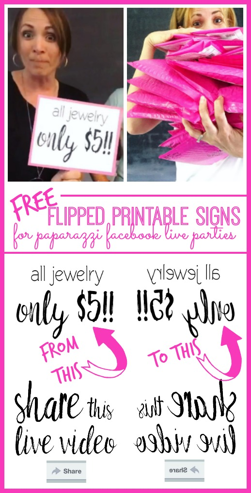 Paparazzi Flipped Printable Signs