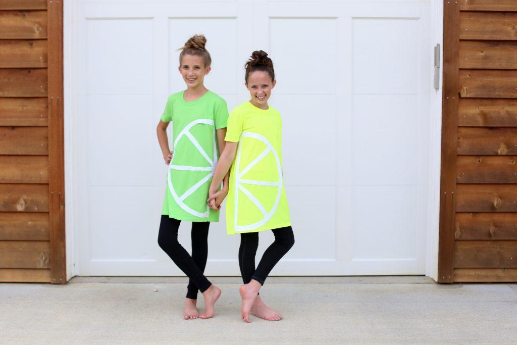 tshirt costume no sew lemon lime