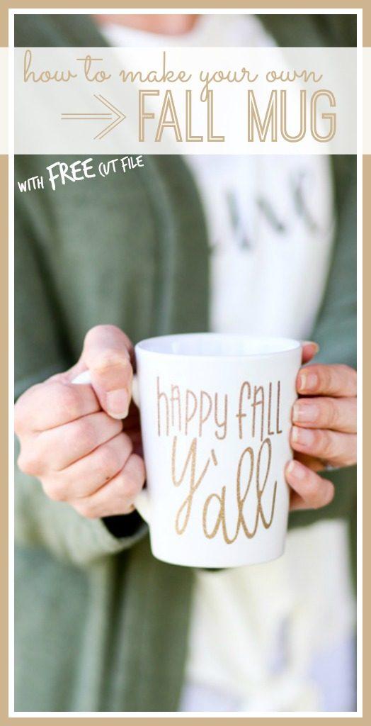 fall mug vinyl diy tutorial instructions