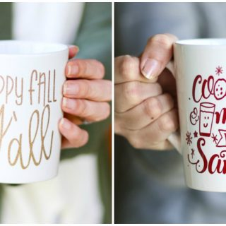 happy fall mug, cookies milk mug santa cut file