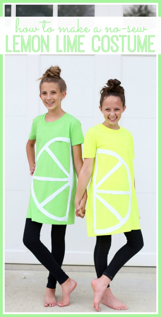 how to make lemon lime tshirt costume