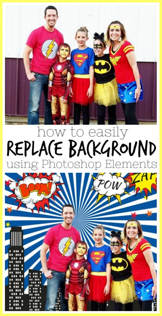 how to replace background photoshop elements