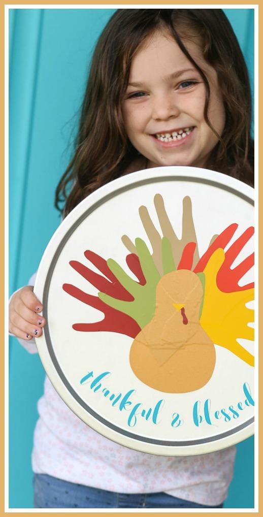 vinyl turkey handprint craft