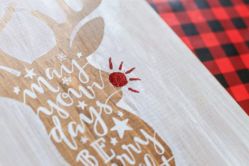 Reindeer stained stenciled sign-7