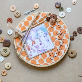 Thankful Embroidery, Thanksgiving Craft