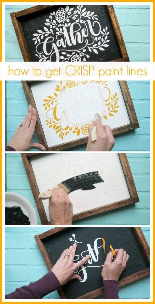 how to get crisp paint lines