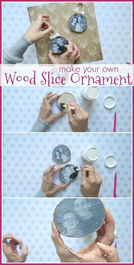 how to make a wood slice ornament
