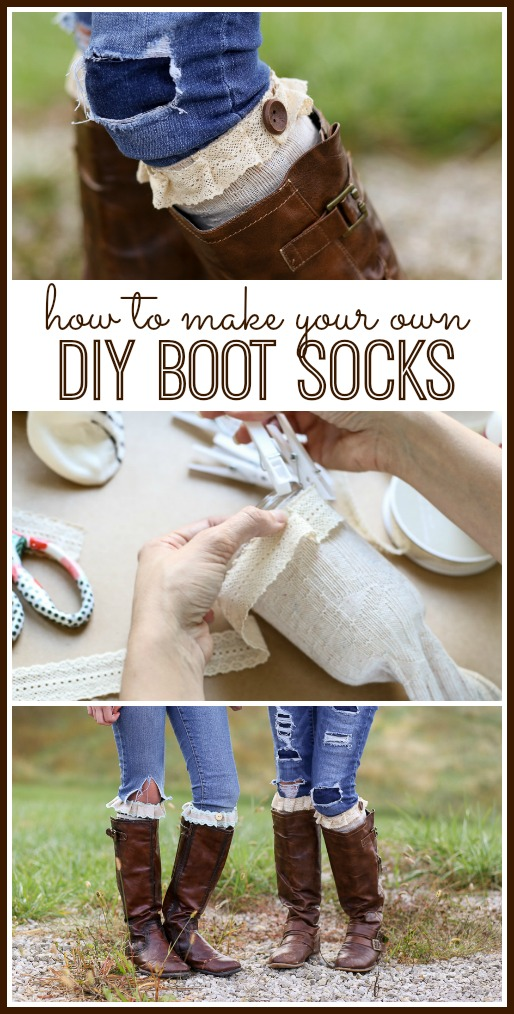how to make your own diy boot socks