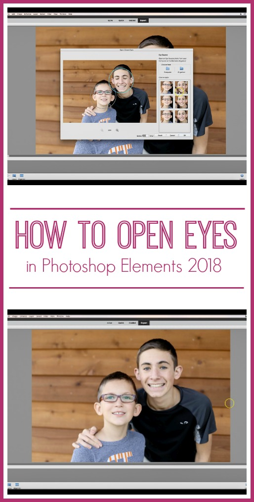 how to open eyes in photoshop elements 2018 pse