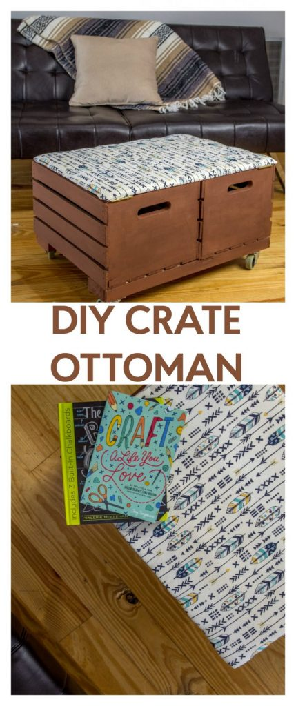 how to make a DIY crate ottoman