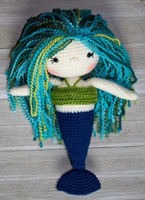 Green and Blue Mermaid