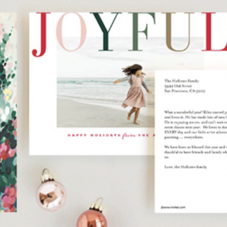 Holiday Postcards with Minted