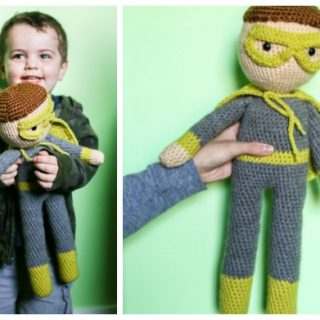 Crochet super hero doll
