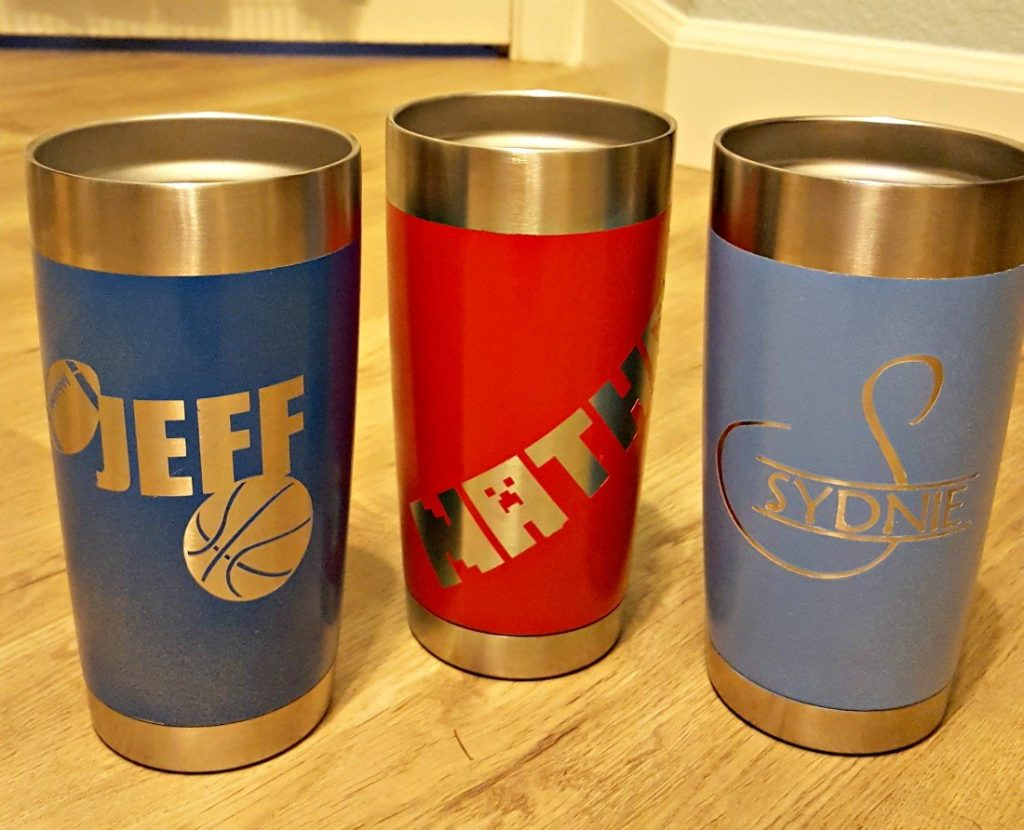 how to paint a steel mug or yeti mug