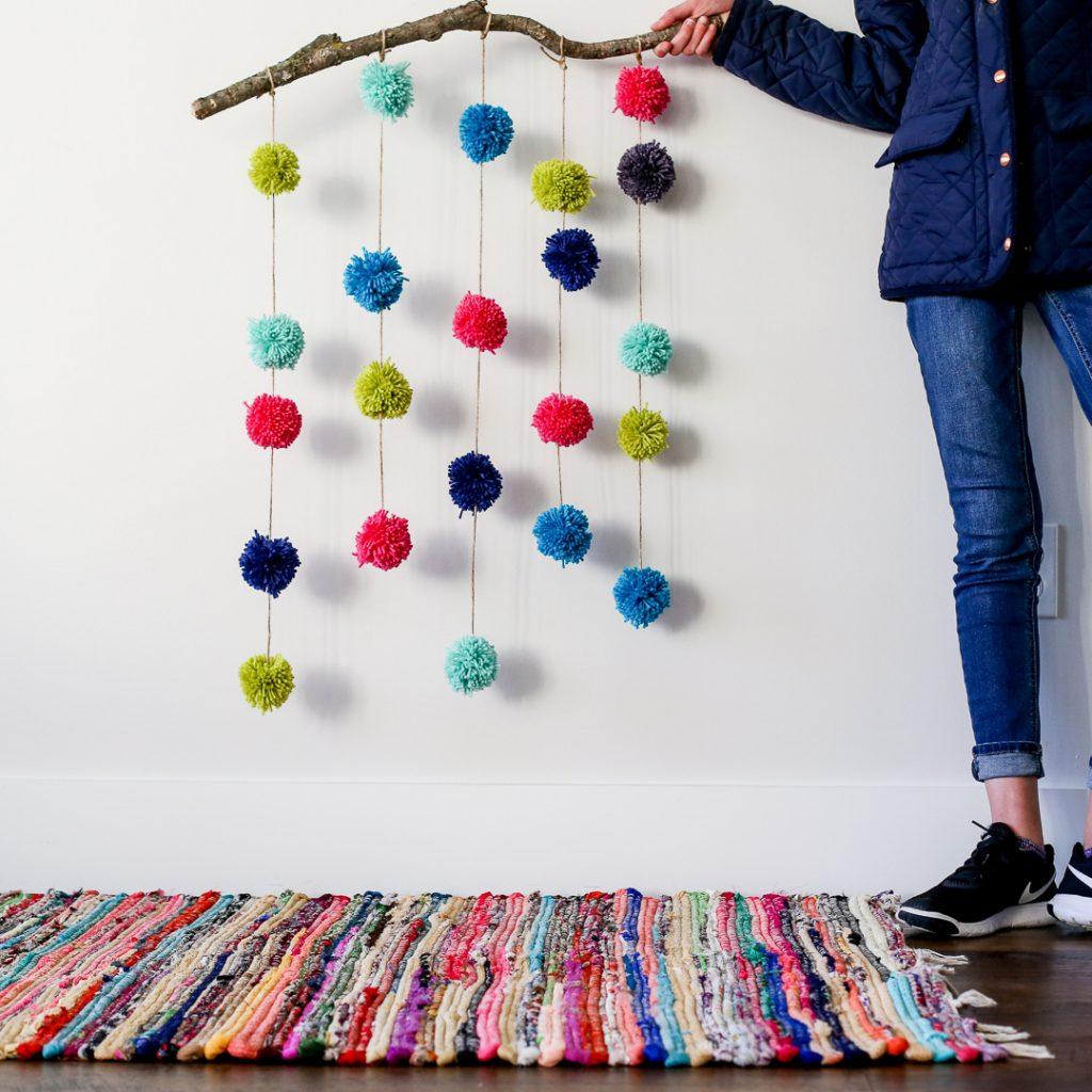pom pom hanging craft-8