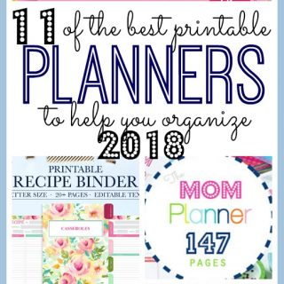 The Best 11 Printable Planners to Organize 2018