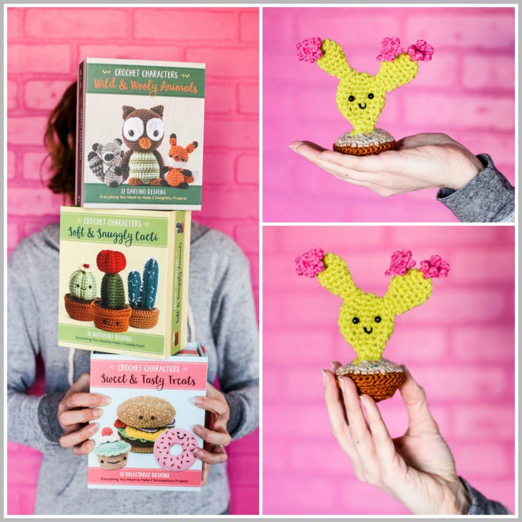 crochet kit cactus collage