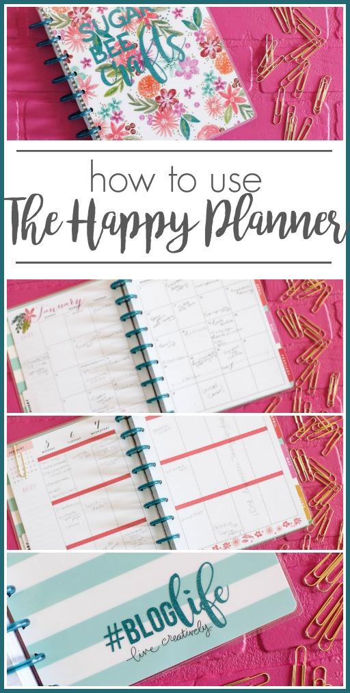 how to use a planner the happy planner