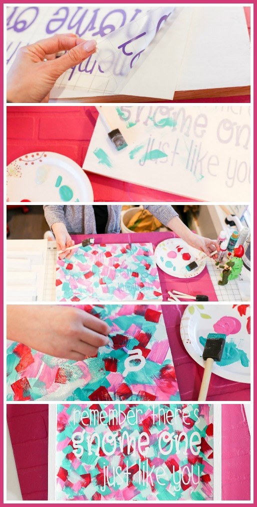kids paint craft quote project