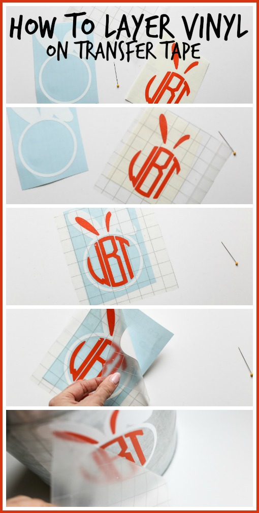 How To Layer Vinyl On Transfer Tape Sugar Bee Crafts