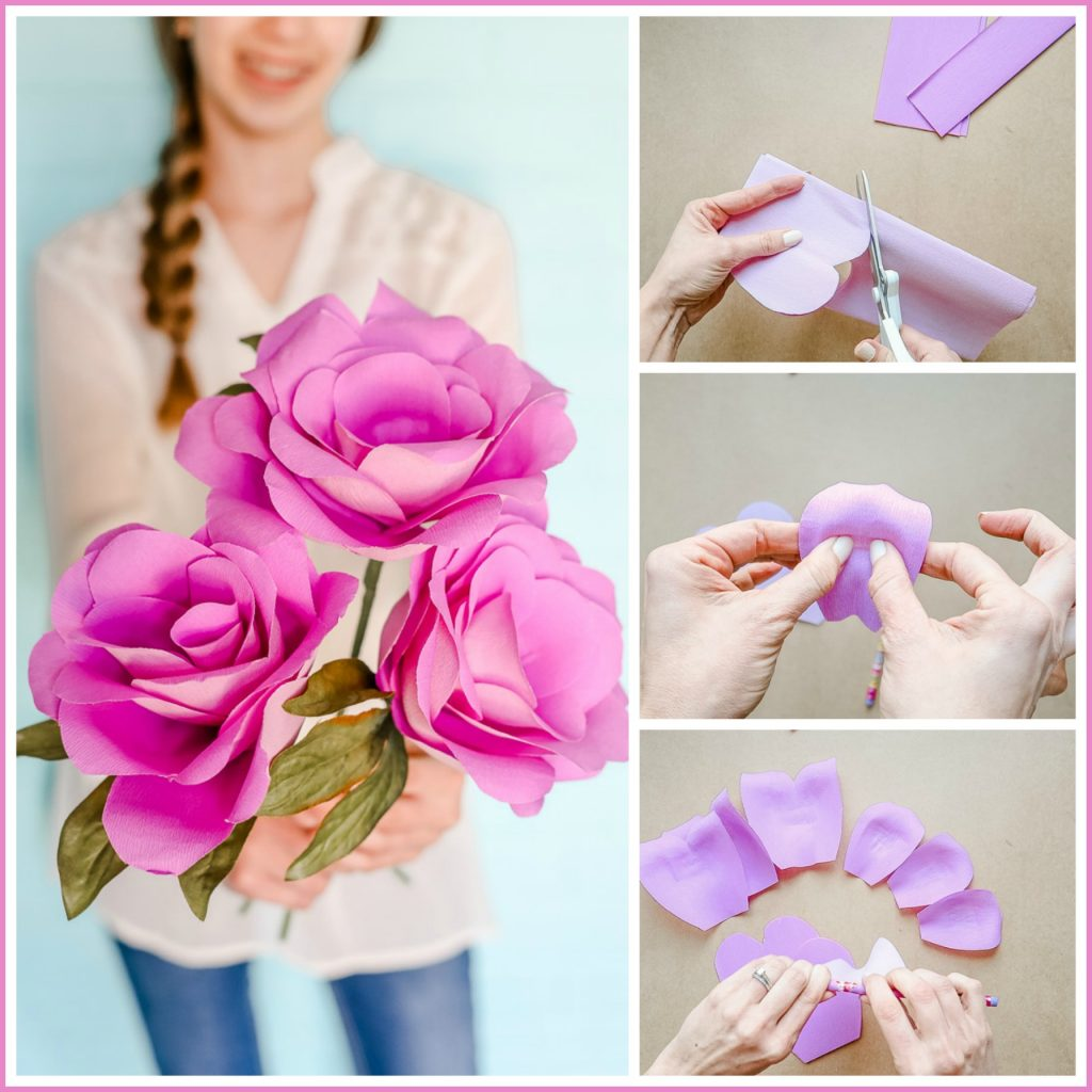 Beautiful video of making paper flowers festooning best evening videos of making paper flowers choice image flower decoration ideas mightylinksfo
