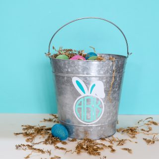 Monogram easter basket decal 3