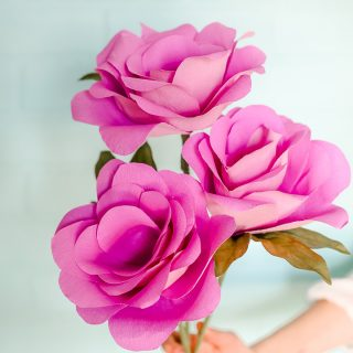 Simple paper flowers 6