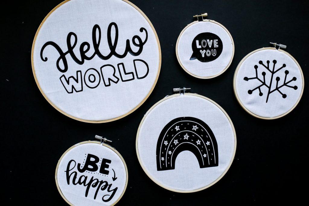 Vinyl Embroidery Hoop Decor