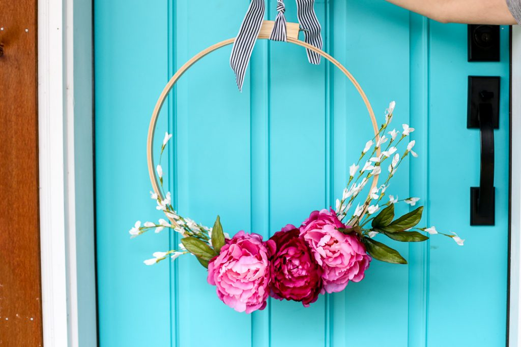 floral embroidery hoop wreath-12