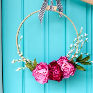 floral embroidery hoop wreath-12