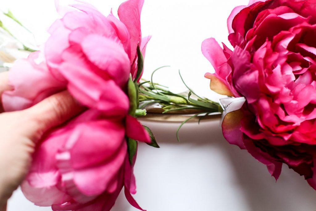 floral embroidery hoop wreath-5