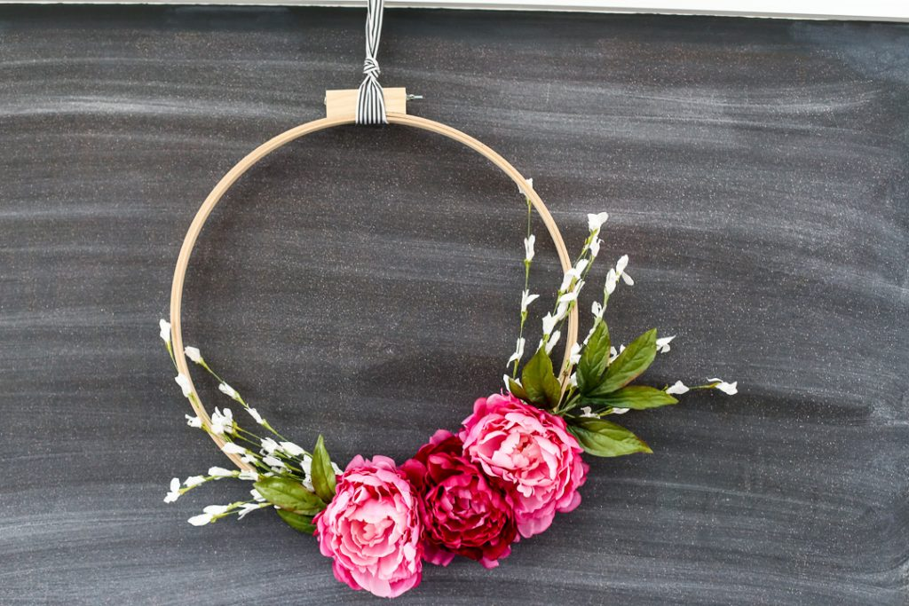 make your own spring wreath simple