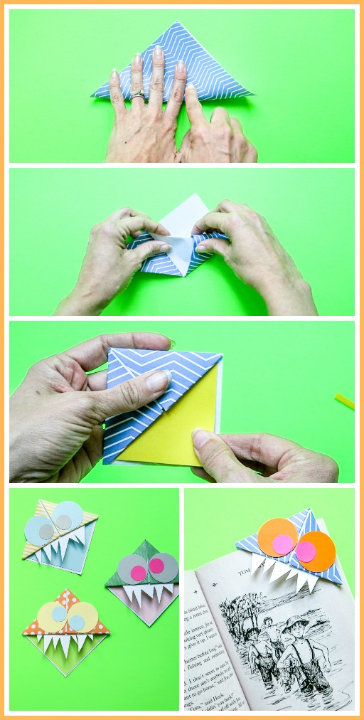 How to make a corner bookmark kids craft idea