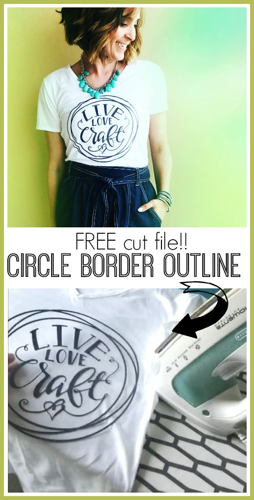 Cut file svg circle border outline