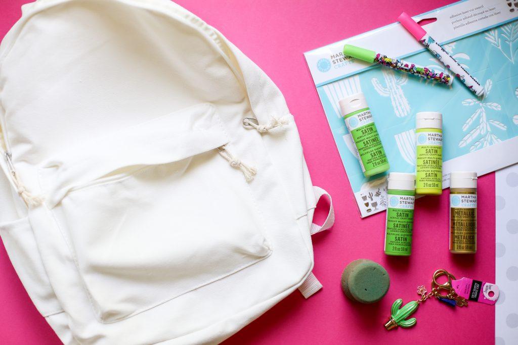 Diy craft backpack idea cactus 1