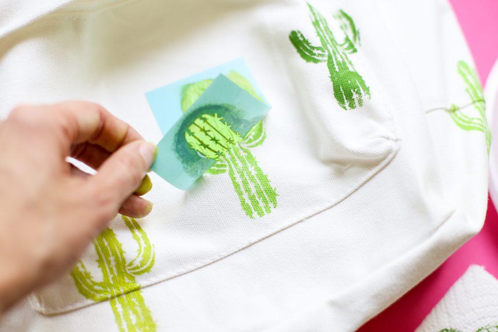 Diy craft backpack idea cactus 3