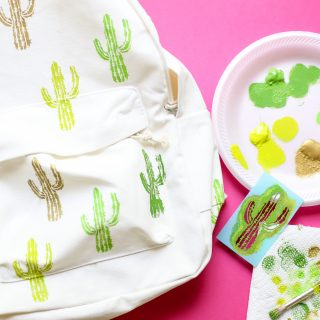 Diy craft backpack idea cactus 4