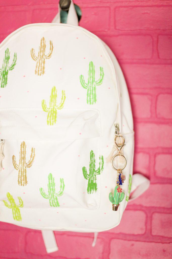 Diy craft backpack idea cactus 7