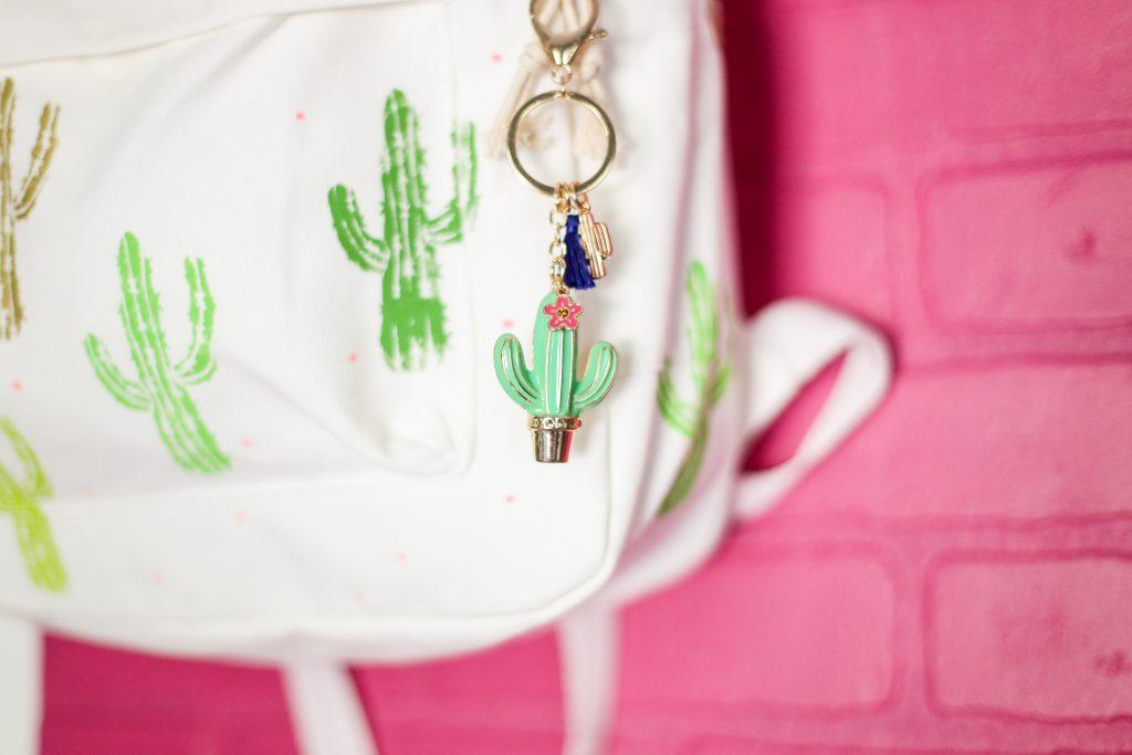 Diy craft backpack idea cactus 9