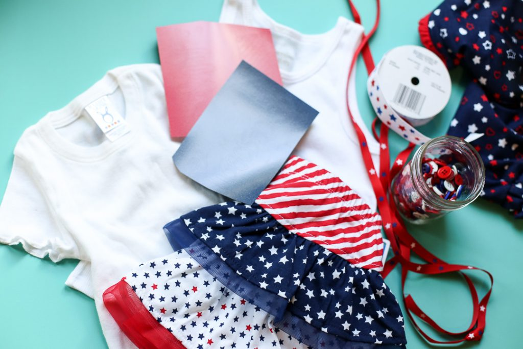 Diy craft tee patriotic red white blue 1