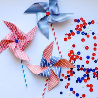 Easy craft idea pinwheels 1