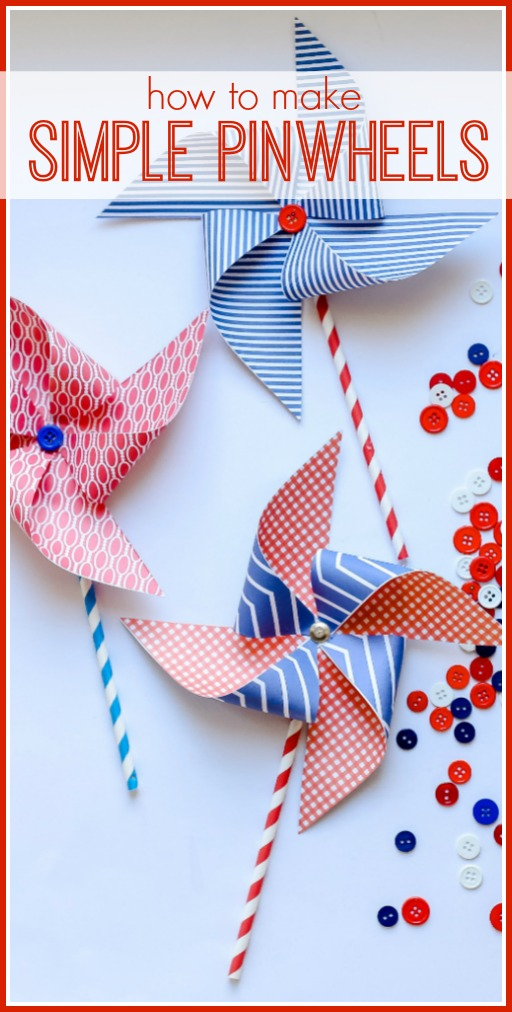 How to make simple pinwheels craft idea for summer