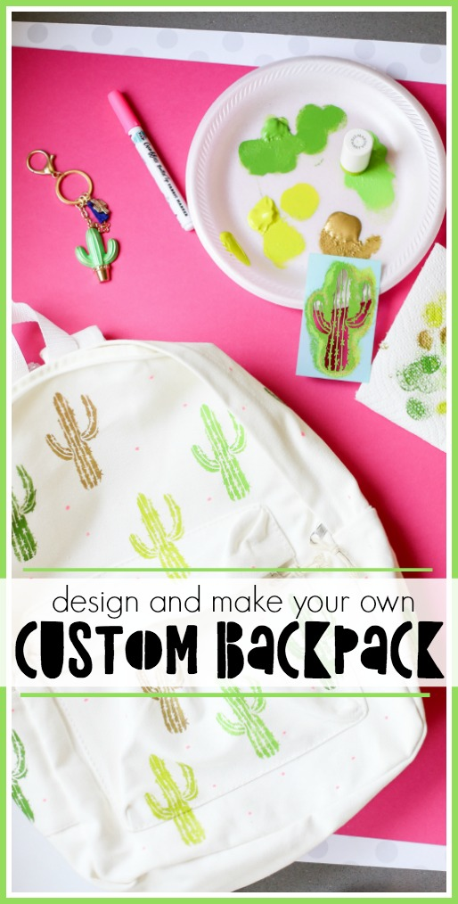 Make a custom backpack craft idea for back to school