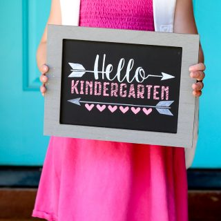 How to make a chalkboard stencil idea 3