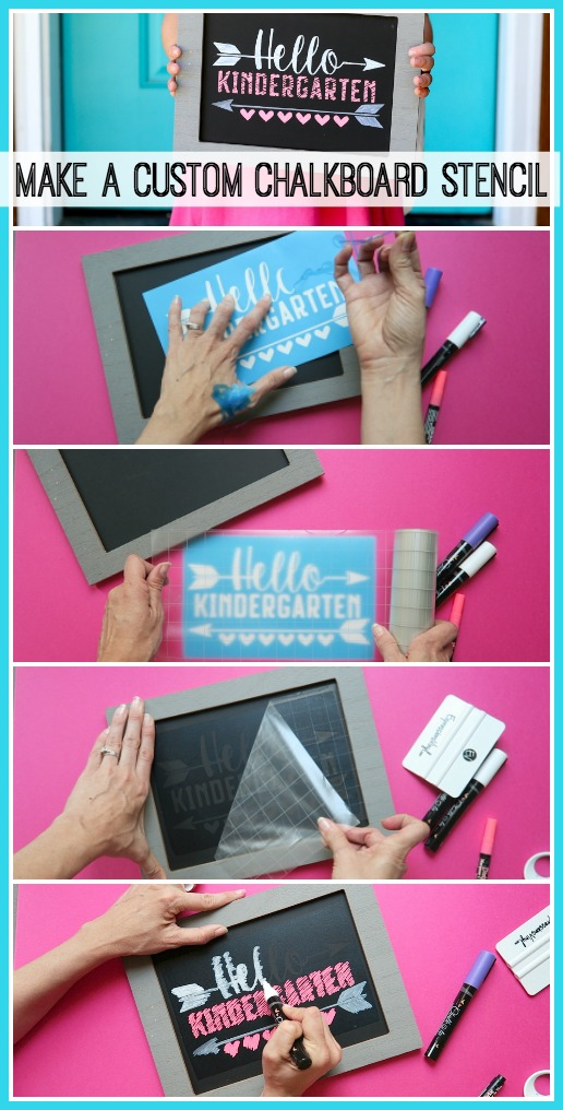 How to make a custom chalkboard stencil idea