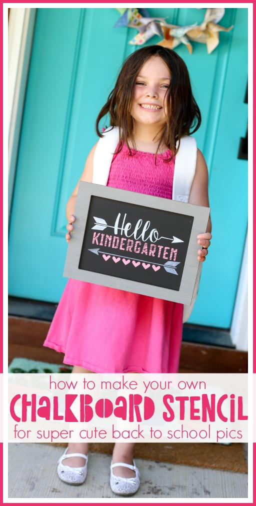 How to make your own chalkboard stencil for back to school pics
