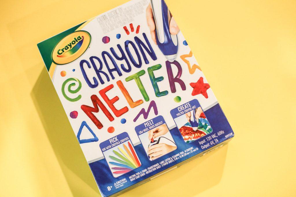 Melted crayon art kids craft 1