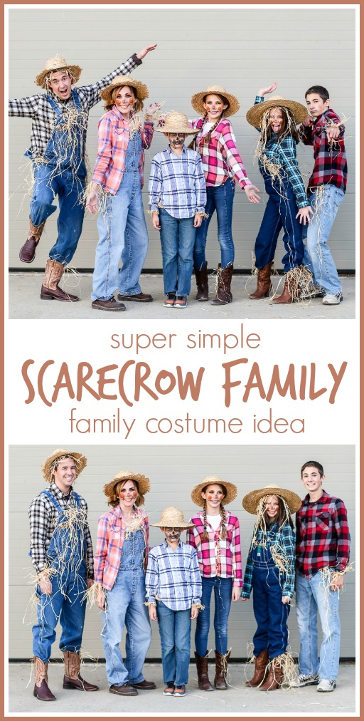 Family costume idea simple scarecrow