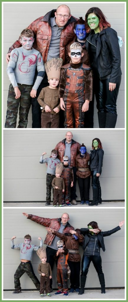 Guardians of the galaxy family costume idea