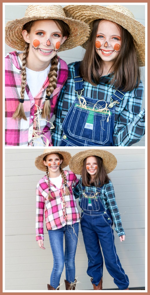 Tween teen simple costume idea scarecrow for halloween